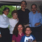 Abrahamson: Jill and Asa. Back Row- Abrahamson: Nicole, Louise, Hugh, Steve